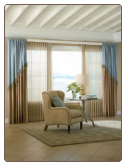 Custom Fabric Window Treatments Room Setting