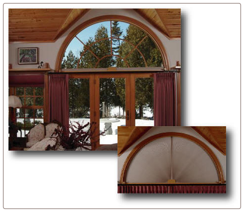 Window Treatments for Half & Quarter Circle Arched Windows